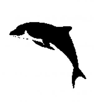 Encaustic stamp dolphin