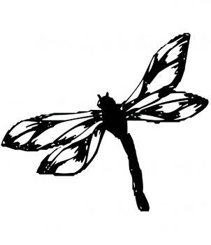 Encaustic stamp drangonfly (55 x 50 mm)
