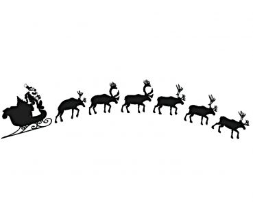 Encaustic stamp sleigh (92 x 50 mm)
