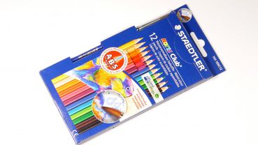Painting crayons for wood, 12 pcs. + 1 paint brush