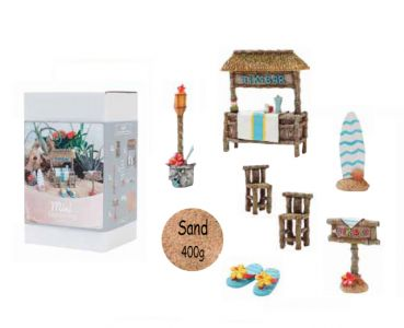 Mini Gardening Beach-Set, 9-teilig