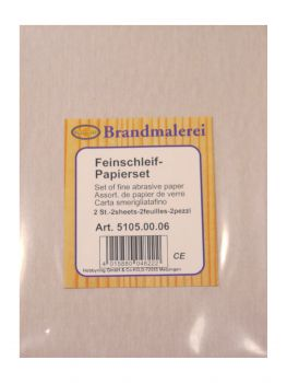 Set of fine abrasive paper, 2 sheets