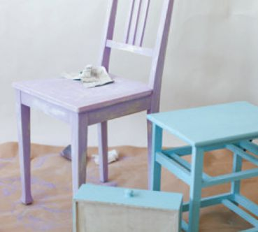 Chalk Paint Spray Stuhl