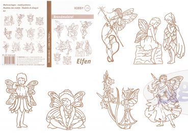 Pattern for pyrography 'Fairies'
