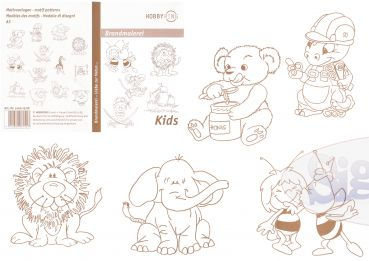 Pattern for pyrography 'Kids'