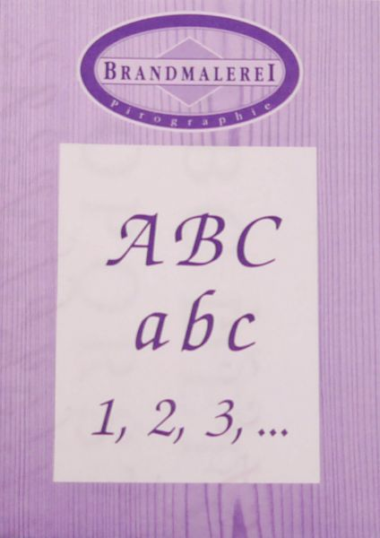 Pattern for pyrography 'Alphabet & Numbers'