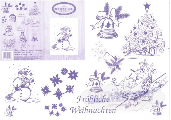Pattern for pyrography 'Winter'